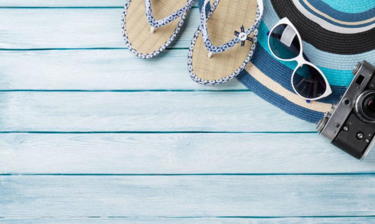 Accessoires für den Strandurlaub