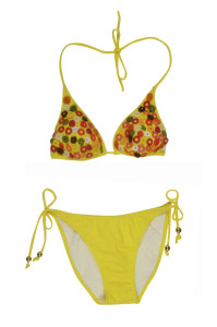Gelber Bikini