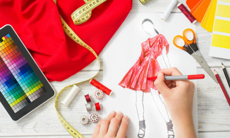 Mode selber machen - Modezeichnung & Nähzubehör