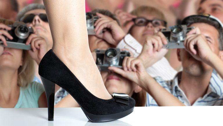 Modeschau, Fuß auf dem Laufsteg