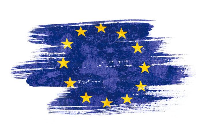 Gemalte Europa Flagge